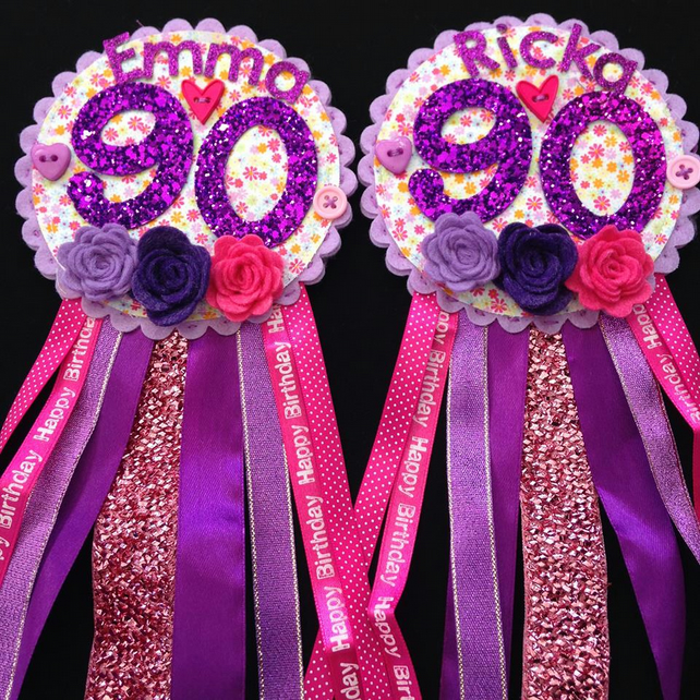Birthday badge-Rosette - Any age