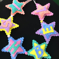 Stars Personalised Name Banner for a Boy- Up to five letters