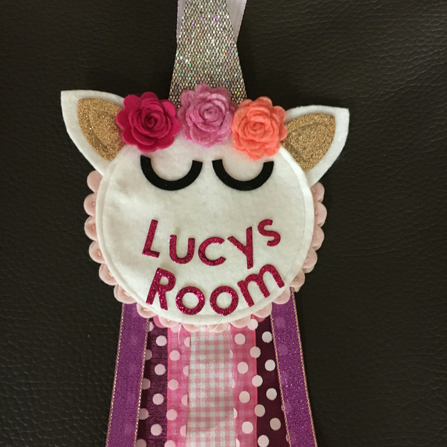 Unicorn Door hanger - Personalised