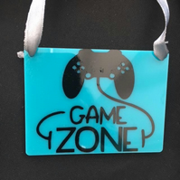 Gaming Zone Acrylic plaque