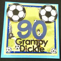 Football  male  birthday card - any age - personalised