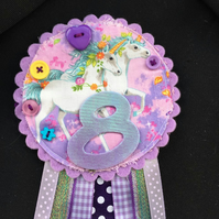 Birthday badge-Rosette - Birthday Girl - Magical Unicorn design