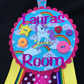 Pretty personalised Rainbow  Unicorn Door hanger for girls