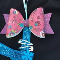 Large Bow -  Hairclip hanger