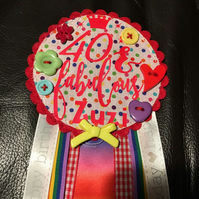 40th Birthday badge - Birthday Girl - Rosette