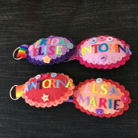 Personalised Bag tag Keyrings for Boys and Girls
