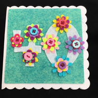 40th birthday card - Floral and Pretty