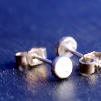 Pebble sterling silver studs
