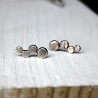 Sterling silver pebble studs