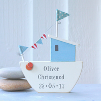 Personalised Cute Fishing Boat