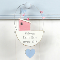 Hanging Personalised Fishing Boat with Heart