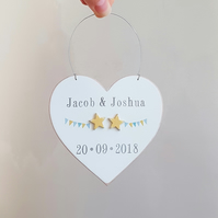 Personalised Heart Twin Gift