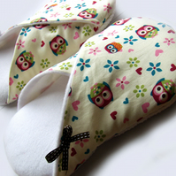 Womens Slippers - Hoot owls