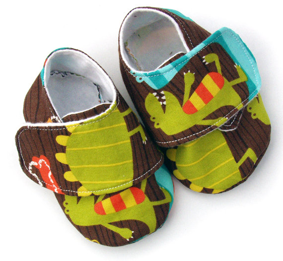 Dino Baby Boy Shoes - size 18-24 months - Sale ... - Folksy