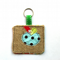 Fabric Keyring, Apples