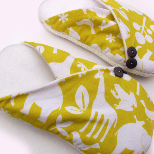 Womens Slippers - Zoo Animals - Size S M L