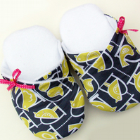 Kimono Style Womens Slippers in Michael Miller Fabric