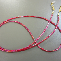 Beaded Glasses Chain - Shiny Red