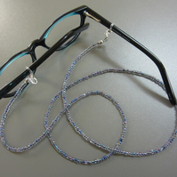 Beaded Glasses Chain - Shimmery Rainbow