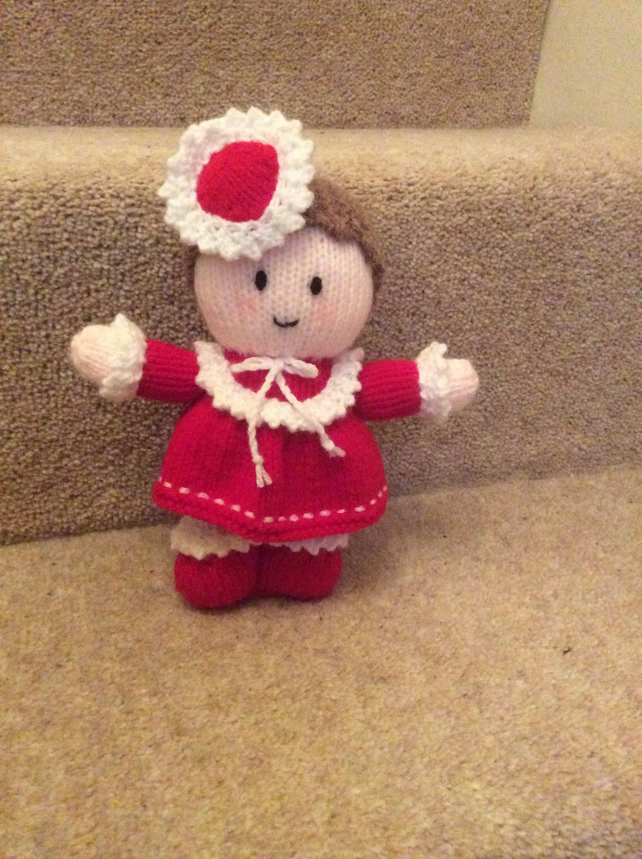 Newly Hand Knitted 'Miss Valentine' Gift Doll