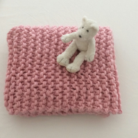 Beautiful 100% Wool Luxury Baby Blanket in Pink - Can be made to order