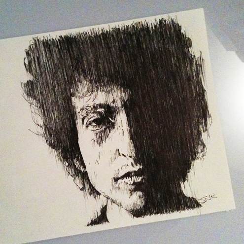 Bob Dylan - An Ink Drawing