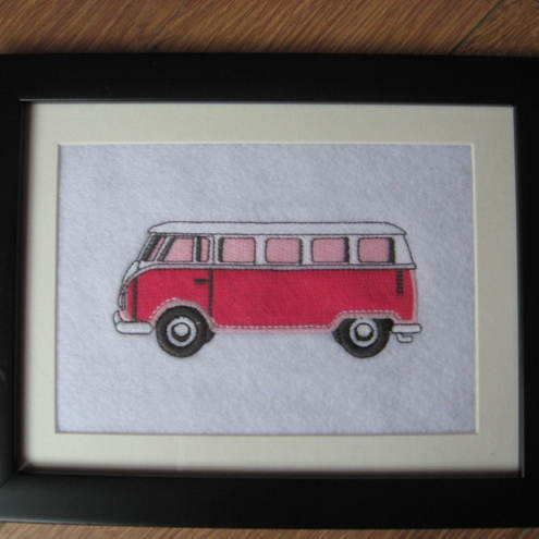 Camper Van Framed Embroidery