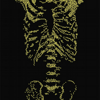 Skeleton screenprint - gold stars (from a limited edition of 10)