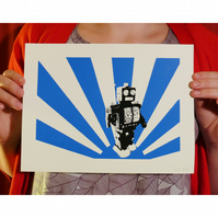 Robot Screenprint, (from a limited edition of 25) 2 colour