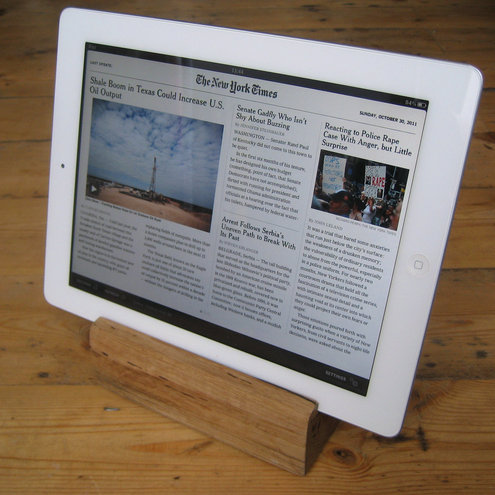 Solid Reclaimed Oak iPad Tablet Stand