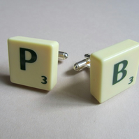 Set of Personalised Scrabble Cufflinks