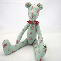 Floral Green Teddy Bear