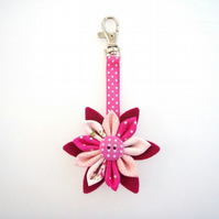Kanzashi Flower Key Ring/ Bag Charm