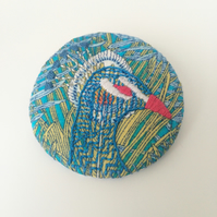 Mr Peacock Liberty Print Badge
