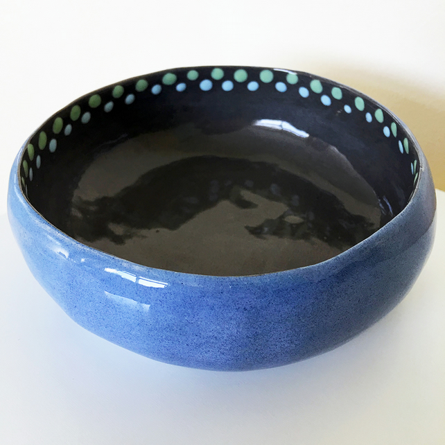 Ceramic Blue and Grey Bowl (Sale)