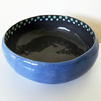 Ceramic Blue and Grey Bowl