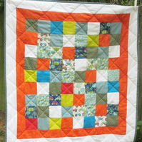 Jolly Farm Tractors - bright nursery quilt