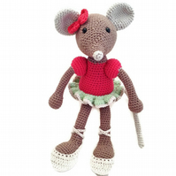 Crocheted Ballerina Mouse