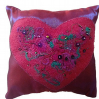 Art Pillow Small Pillow with Heart Decoration Heart