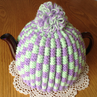 Pretty Summer Colours Tea Cosy Knitted Teacosy