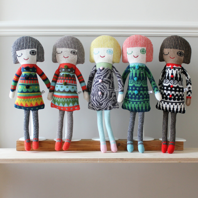 Knitted Lambswool Dolls