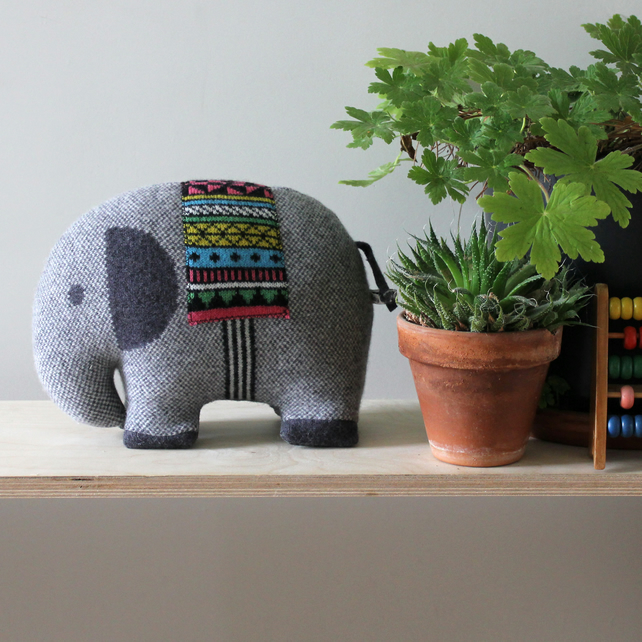 Knitted Lambswool Elephant
