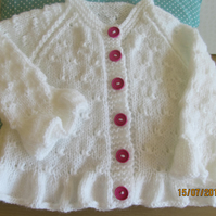 Ruffles and Knots Cardigan 20""