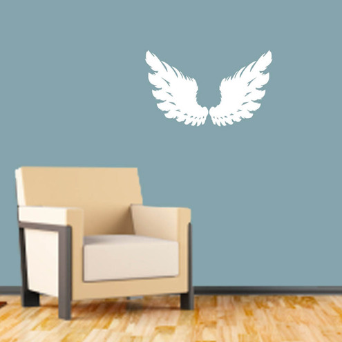 Angel Wings Vinyl Wall Decal Sticker Folksy