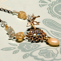 This Side of Paradise reworked vintage necklace
