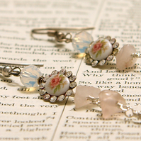 A Rose By Any Name reworked vintage earrings