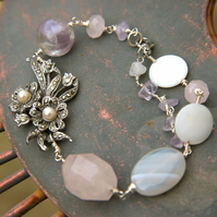 Pretty in Pastels reworked vintage bracelet