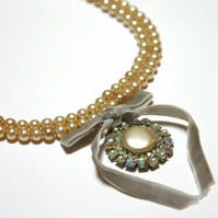 Grace Kelly reworked vintage necklace