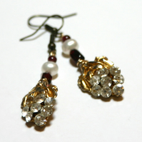 Bacchanal reworked vintage earrings