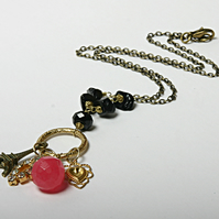 Peardrop reworked vintage necklace